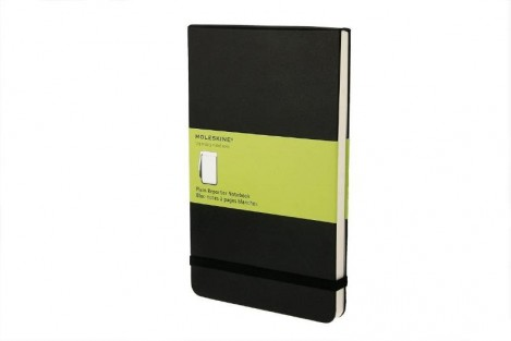 Moleskine Large Plain reporter notebook / Blocnotes a pages blanches