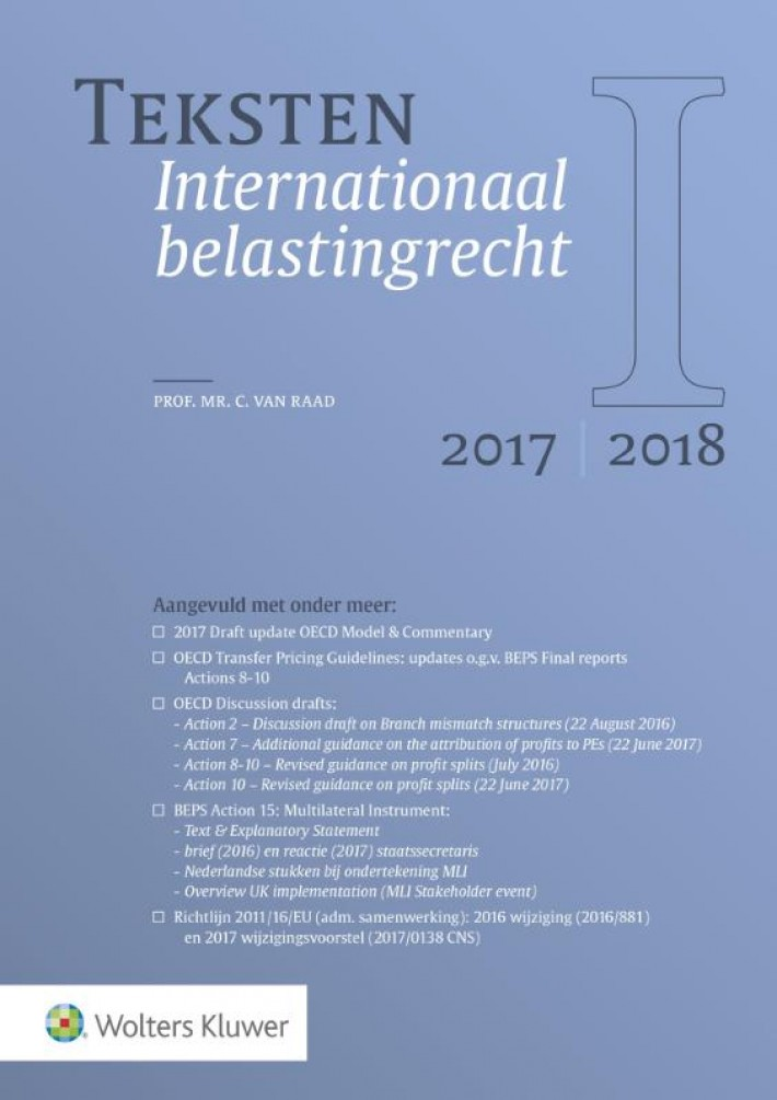 Teksten Internationaal belastingrecht 2017/2018